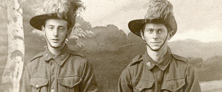 Studio portrait of soldiers
