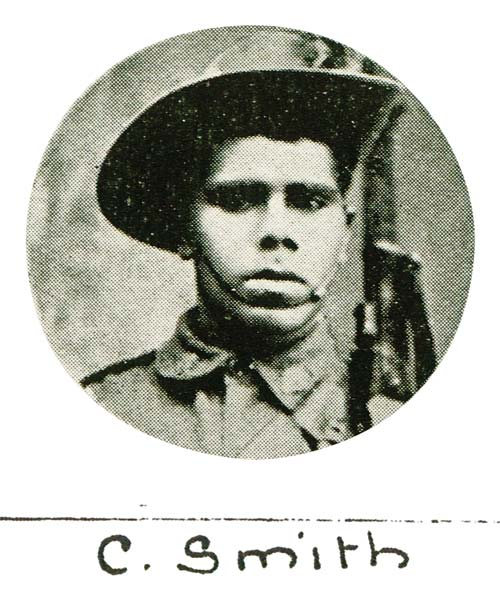 C. Smith, one of the soldiers photographed in The Queenslander Pictorial, supplement to The Queenslander, 1918
